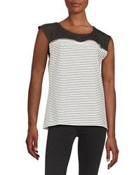 Calvin Klein Zipper Accented Tee White Black