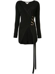Antonio Berardi V Neck Wrap Blouse Black