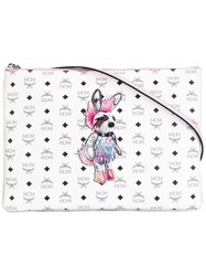 Mcm Punk Rabbit Clutch Bag White