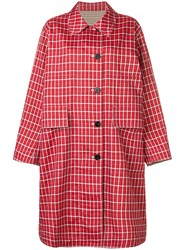 Ports 1961 Checked Single Breasted Coat Red