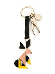 Tod's Rabbit Charm Keyring Black