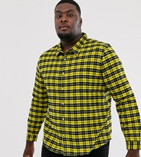 Another Influence Regular Fit Flannel Check Shirt Yellow