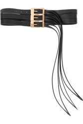 Maison Martin Margiela Fringed Leather Belt Black