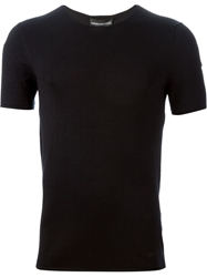 Emporio Armani Fitted Knit T Shirt Black