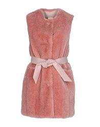 Annie P. Coats And Jackets Faux Furs Pink