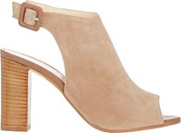 Barneys New York Peep Toe Ankle Strap Sandals Nude Size 6.5