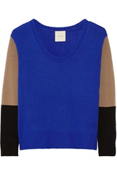 Mason By Michelle Mason Color Block Wool And Cashmere Blend Sweater