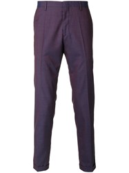 Paul Smith Micro Check Chinos Pink And Purple