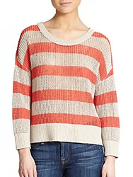 Feel The Piece Candace Striped Sweater Poppy