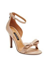Kay Unger Baroque Leather Heels Nude