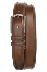 Mezlan Men's Tequila Leather Belt Taupe