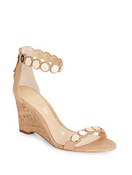 Vince Camuto Edolie Suede Wedges Nude