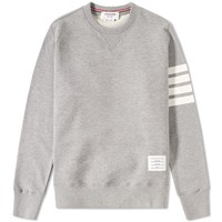 Thom Browne Engineered Stripe Crew Sweat Grey