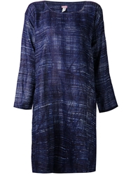 Dosa Printed Oversized Tunic Top Blue