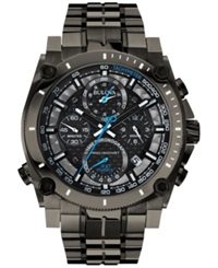 Bulova Men's Chronograph Precisionist Gray Tone Stainless Steel Bracelet Watch 47Mm 98B229