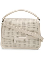 Tod's Double T Small Satchel Nude And Neutrals