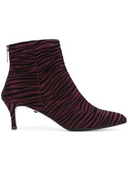 Just Cavalli Animal Print Boots Pink Purple