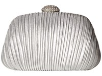 Jessica Mcclintock Brianna Pleated Soft Shine Silver Handbags