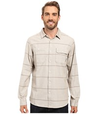 Mountain Hardwear Frequenter Stripe Long Sleeve Shirt Fossil Men's Long Sleeve Button Up Beige
