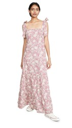 Free People In The Fields Maxi Dress Ivory Combo