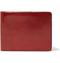 Il Bussetto Polished Leather Billfold Wallet Red