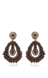 Ranjana Khan Black Drop Earrings