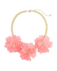 Romeo And Juliet Couture Triple Rose Statement Necklace Pink