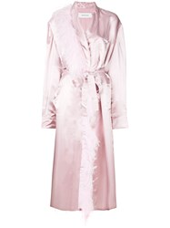 Marques Almeida Marques'almeida Feather Detail Coat Pink And Purple