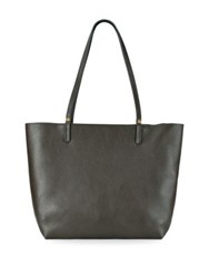 Gigi New York Tori Leather Tote Anthracite