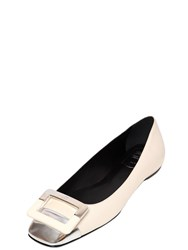 Roger Vivier 10Mm U Cut Two Tone Leather Flats