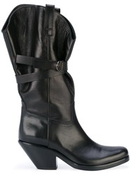 A.F.Vandevorst Strap Detail Boots Women Calf Leather Leather 39.5 Black