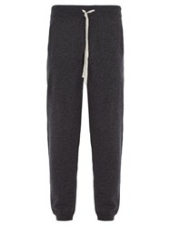 Allude Drawstring Wool Blend Track Pants Charcoal