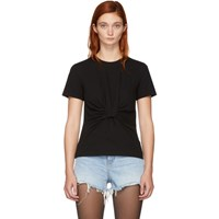 Alexander Wang T By Black Twist Front T Shirt