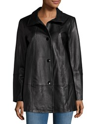 Gallery Leather Walking Coat Black