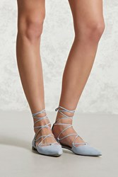 Forever 21 Faux Suede Pointed Toe Flats