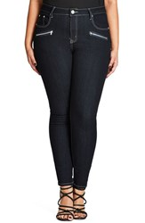 City Chic Plus Size Women's Glam Zip Skinny Jeans