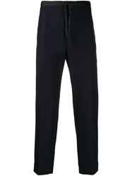 Jil Sander Drawstring Slim Fit Trousers Blue