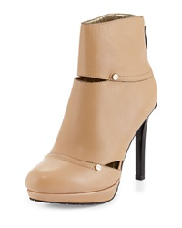Elaine Turner Designs Shayne Leather Platform Bootie Butter