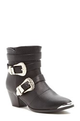 Modern Rebel Lollie Buckle Bootie Black