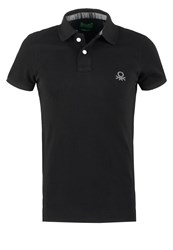 United Colors Of Benetton Muscle Fit Polo Shirt Black