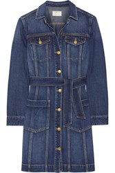 Current Elliott Dorothy Denim Shirt Dress Mid Denim