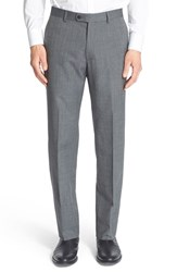 Men's John Varvatos Star Usa Flat Front Houndstooth Wool Blend Trousers Grey