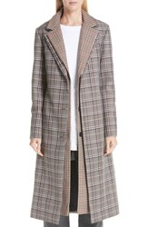 Monse Layered Plaid Wool Blend Coat