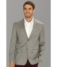 Perry Ellis Textured Suit Jacket Brushed Nickel Men's Jacket Silver