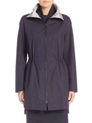 Akris Punto Lightweight Cotton Parka Navy Cliff