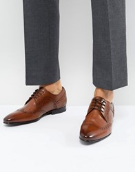 Ted Baker Ollivur Leather Brogue Shoes In Tan Tan