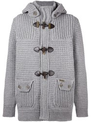 Bark Knitted Duffle Cardigan Grey