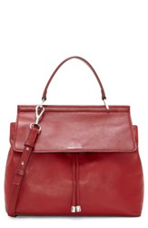 Louise Et Cie 'Towa' Leather Top Handle Satchel Red Cherry Red