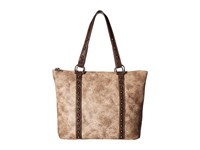 Mandf Western Lydia Conceal Carry Tote Taupe Tote Handbags