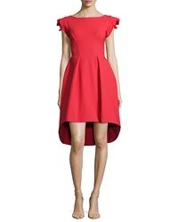 La Petite Robe Di Chiara Boni Rosette Cap Sleeve High Low Dress